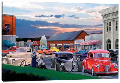 Main Street Canvas Art Print