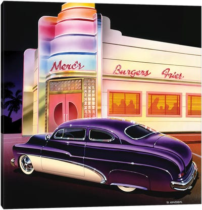 Merc's Burgers Canvas Art Print