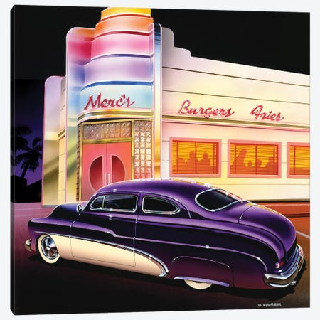 Merc's Burgers Canvas Print #KSR18} by Bruce Kaiser Canvas Art