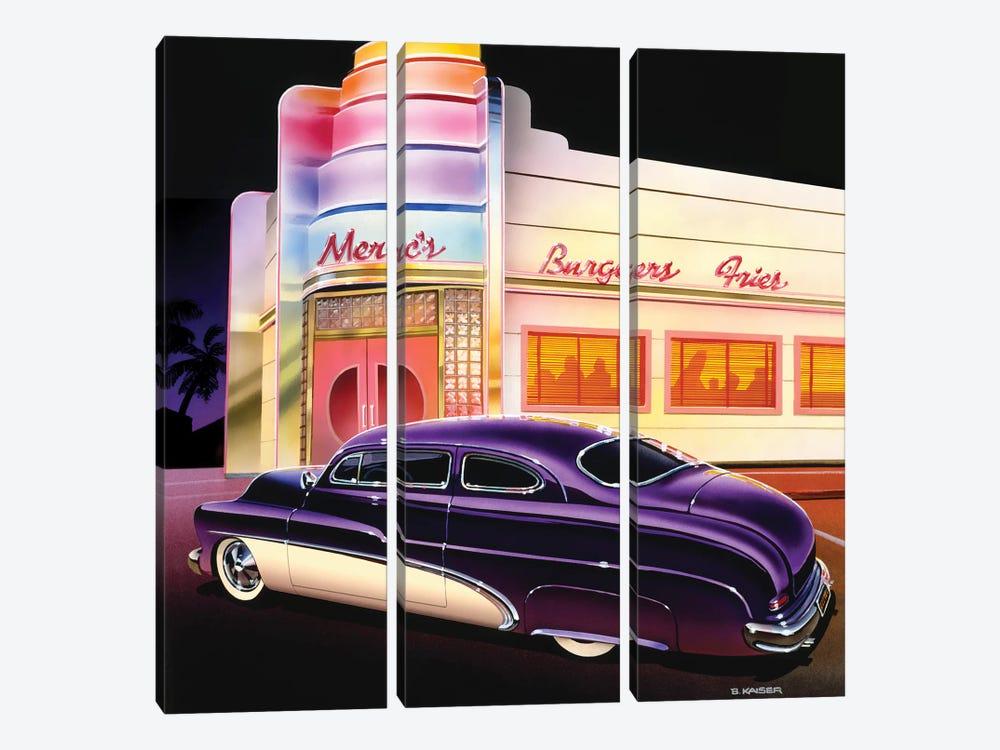 Merc's Burgers by Bruce Kaiser 3-piece Art Print