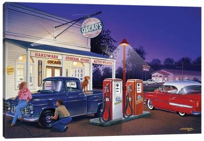 Oscar's General Store Canvas Art Print