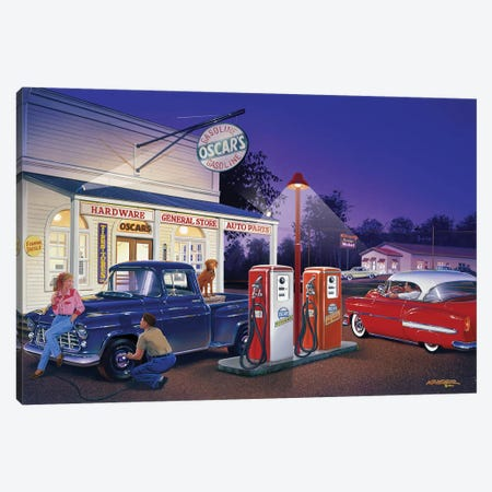 Oscar's General Store Canvas Print #KSR19} by Bruce Kaiser Canvas Art