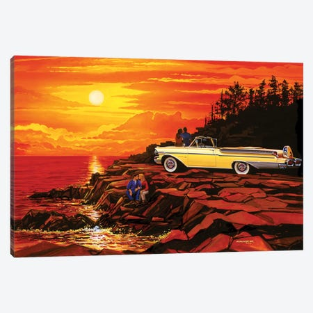 57 Merc Sunset Canvas Print #KSR1} by Bruce Kaiser Canvas Wall Art