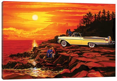 57 Merc Sunset Canvas Art Print