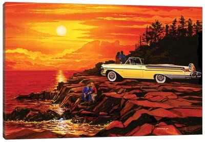 57 Merc Sunset Canvas Art Print