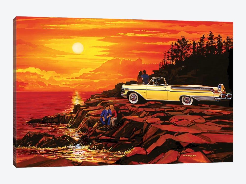 57 Merc Sunset by Bruce Kaiser 1-piece Canvas Wall Art