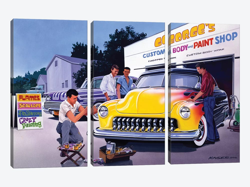 Paint Shop by Bruce Kaiser 3-piece Canvas Art