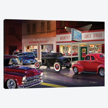 Phil's Diner Canvas Print #KSR21} by Bruce Kaiser Art Print