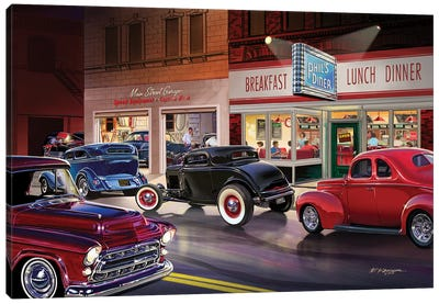 Phil's Diner Canvas Art Print