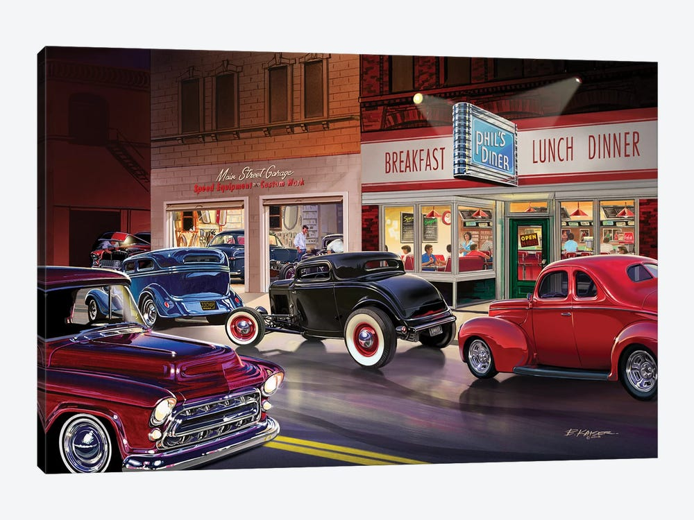 Phil's Diner by Bruce Kaiser 1-piece Canvas Art Print