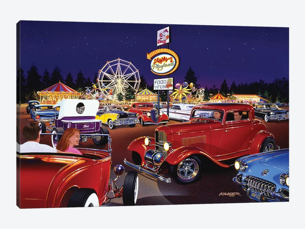 Sammy's Playland by Bruce Kaiser 1-piece Canvas Art