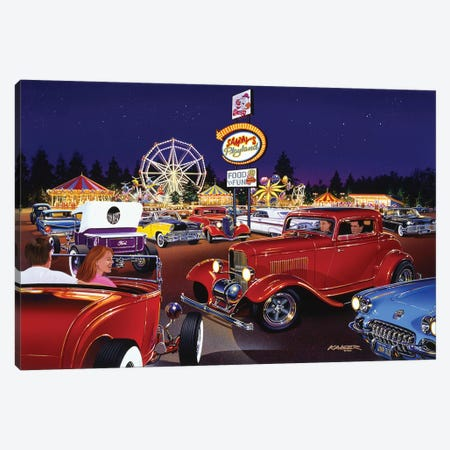 Sammy's Playland Canvas Print #KSR22} by Bruce Kaiser Art Print
