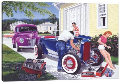 Shade Tree Mechanic Canvas Art Print