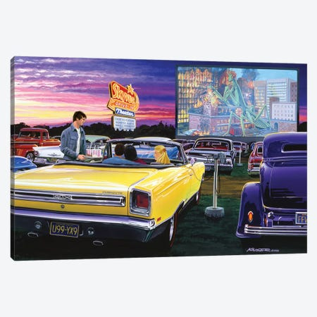 Sky View Drive-In Canvas Print #KSR24} by Bruce Kaiser Canvas Art
