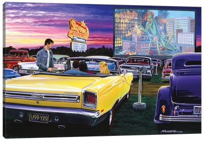 Sky View Drive-In Canvas Art Print