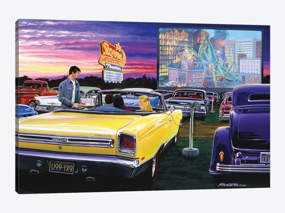 Sky View Drive-In by Bruce Kaiser 1-piece Canvas Artwork