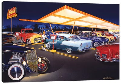 Ted's Drive-In Canvas Art Print