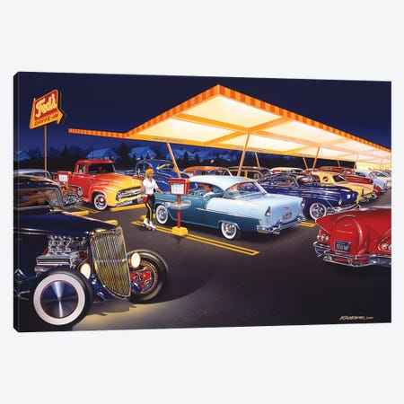 Ted's Drive-In Canvas Print #KSR26} by Bruce Kaiser Canvas Artwork