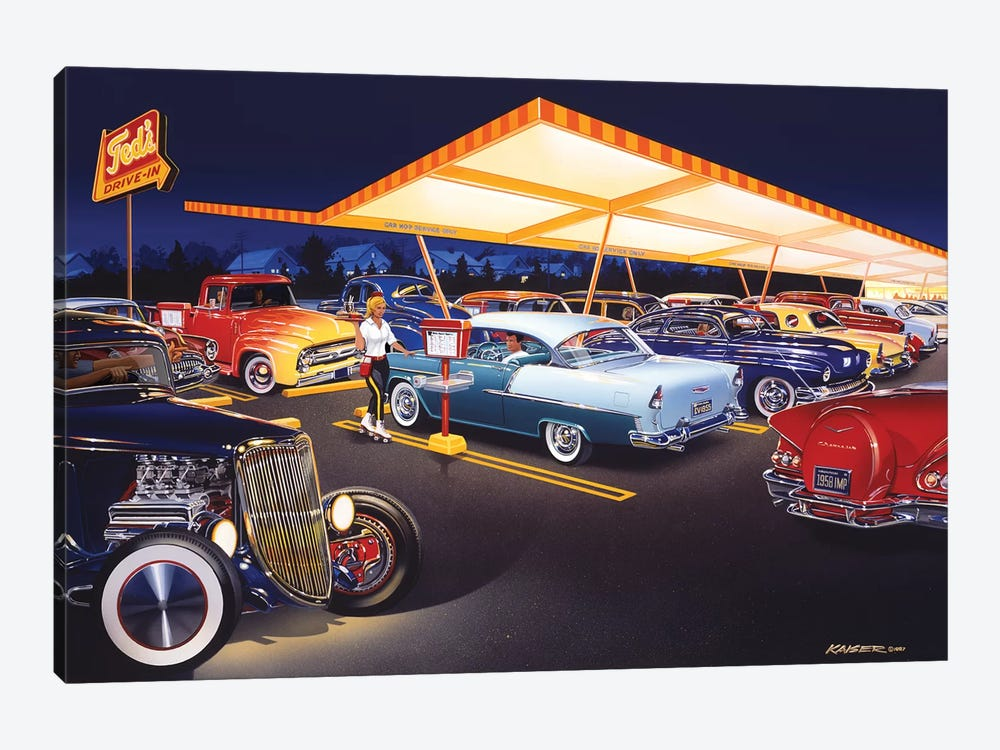 Ted's Drive-In by Bruce Kaiser 1-piece Canvas Artwork