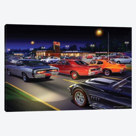 Ted's Painting Canvas Print #KSR27} by Bruce Kaiser Canvas Art