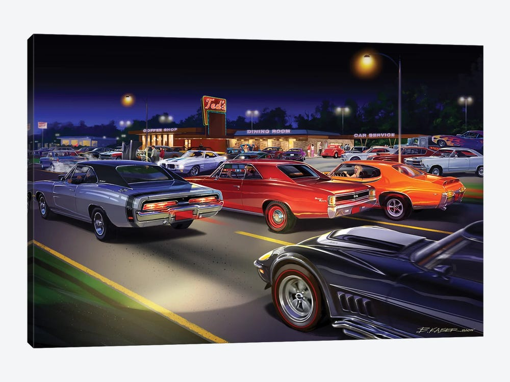 Ted's Painting by Bruce Kaiser 1-piece Canvas Print