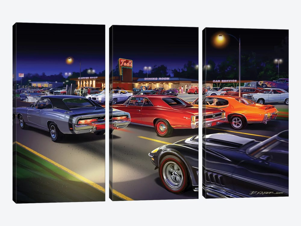 Ted's Painting by Bruce Kaiser 3-piece Art Print