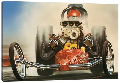 Top Fuel Dragster Canvas Art Print