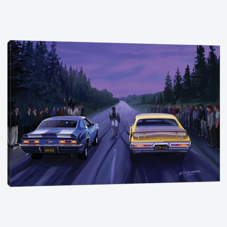 Back Road Races Canvas Print #KSR2} by Bruce Kaiser Canvas Artwork