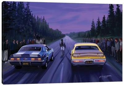Back Road Races Canvas Art Print
