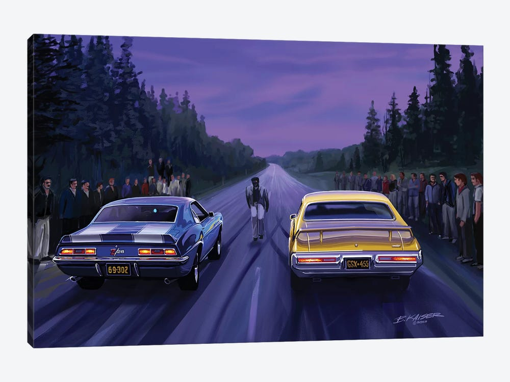 Back Road Races by Bruce Kaiser 1-piece Art Print