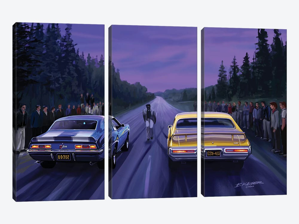 Back Road Races by Bruce Kaiser 3-piece Art Print