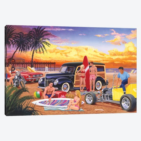 Woody Beach Canvas Print #KSR30} by Bruce Kaiser Canvas Artwork