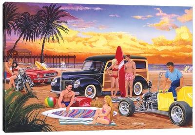 Woody Beach Canvas Art Print