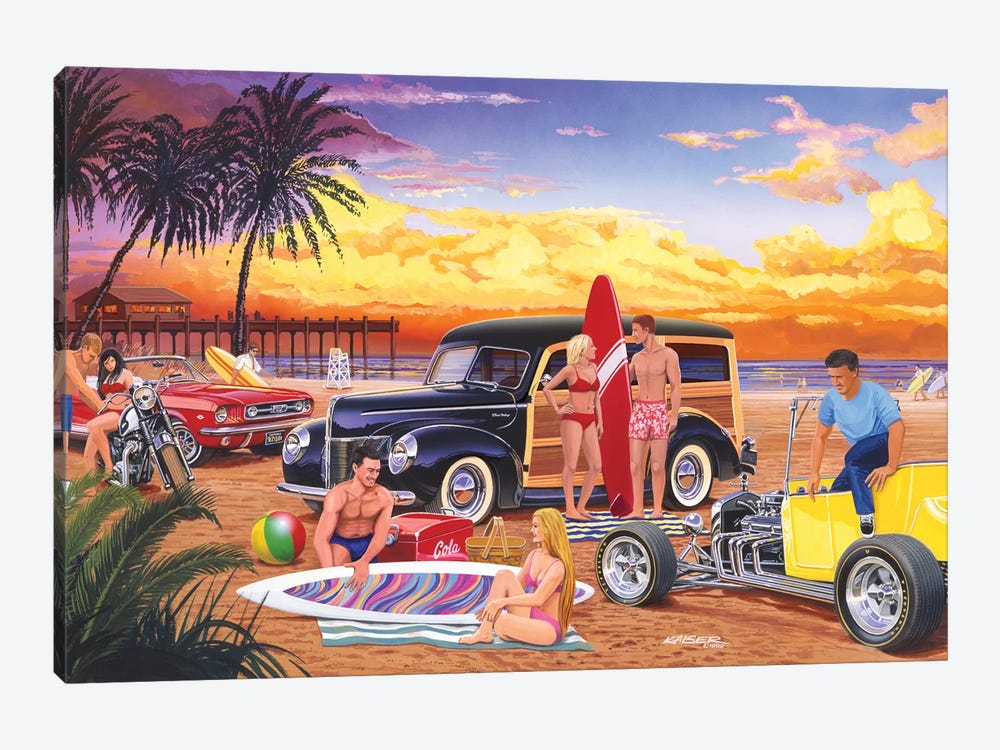 Woody Beach by Bruce Kaiser 1-piece Canvas Art Print