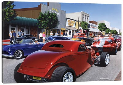 Car Show '98 Canvas Art Print