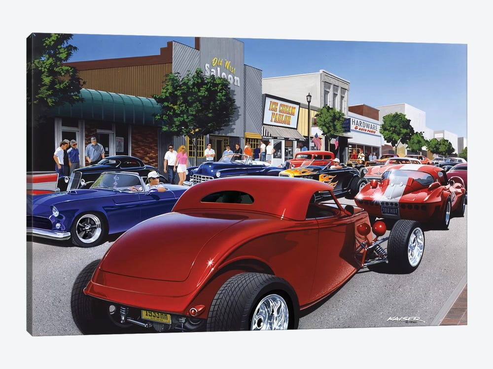Car Show '98 by Bruce Kaiser 1-piece Canvas Wall Art
