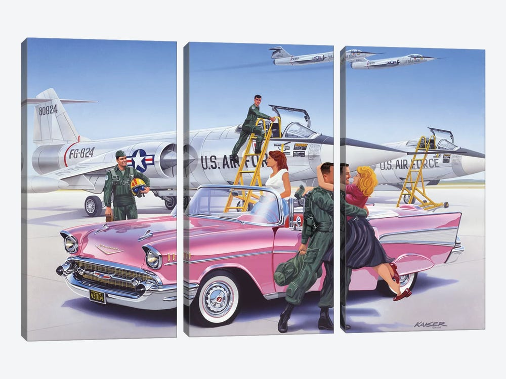 Coming Home by Bruce Kaiser 3-piece Canvas Print