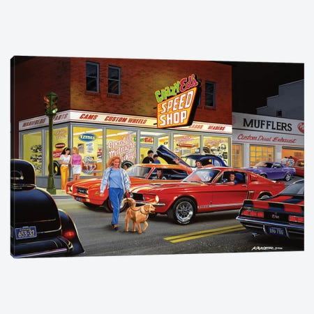 Crazy Ed's Canvas Print #KSR5} by Bruce Kaiser Canvas Print