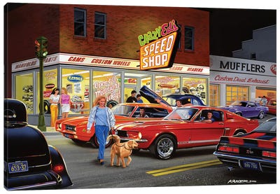Crazy Ed's Canvas Art Print
