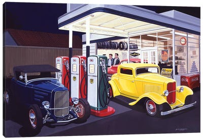 Deuce Service Garage Canvas Art Print