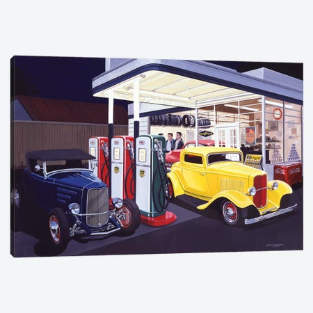 Deuce Service Garage Canvas Print #KSR6} by Bruce Kaiser Canvas Art Print