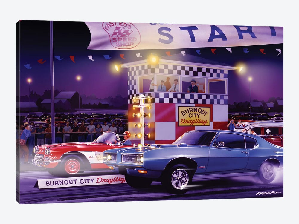 Drag City by Bruce Kaiser 1-piece Canvas Art