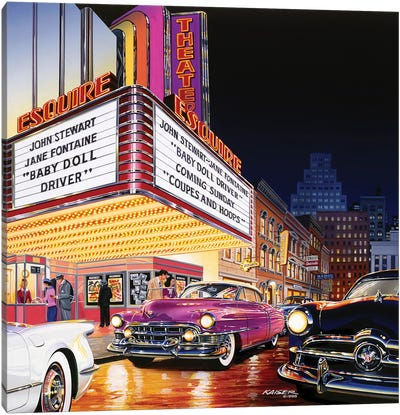 Esquire Theatre Canvas Art Print