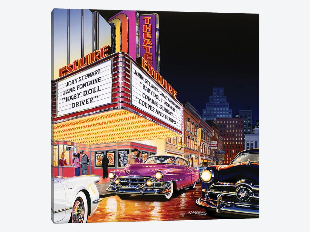 Esquire Theatre by Bruce Kaiser 1-piece Canvas Art Print