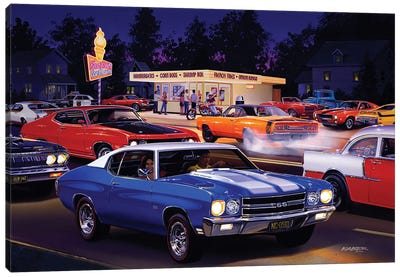 Fast Fred's Canvas Art Print