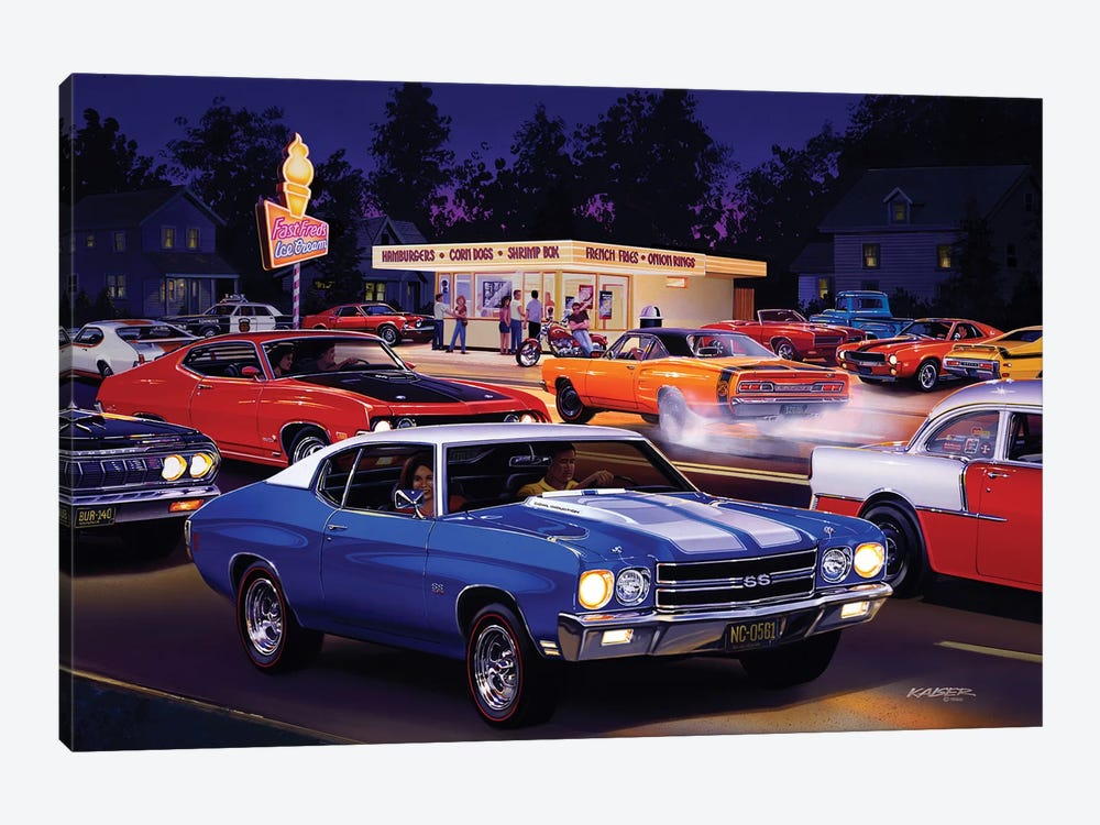 Fast Fred's by Bruce Kaiser 1-piece Canvas Artwork
