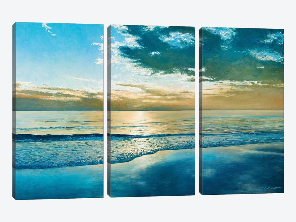 Amelia Island Dawn by Kent Sullivan 3-piece Canvas Print
