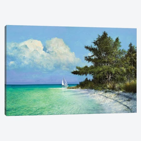 Cayo Costa Beach Canvas Print #KSU2} by Kent Sullivan Canvas Art Print