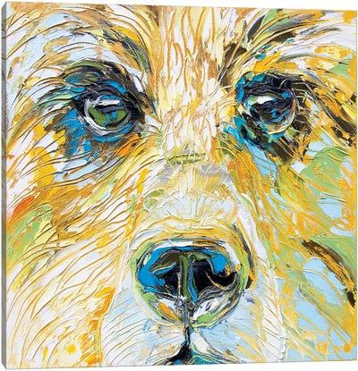 Mellow Yellow Bear Canvas Art Print