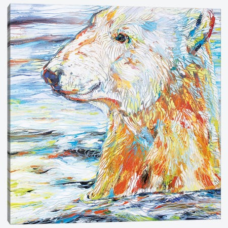 Polar Gaze Canvas Print #KSV17} by Kathleen Steventon Canvas Art Print